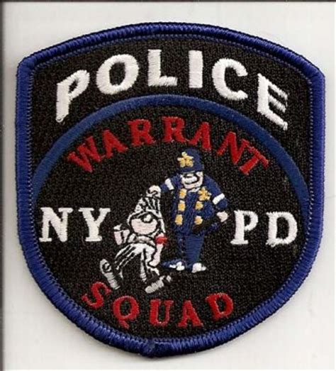 Nypd Warrant Search New York New York Department Warrant Squad Patchgallery