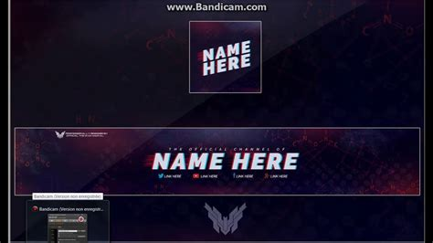 logo et banni 232 re template photoshop cs6 youtube