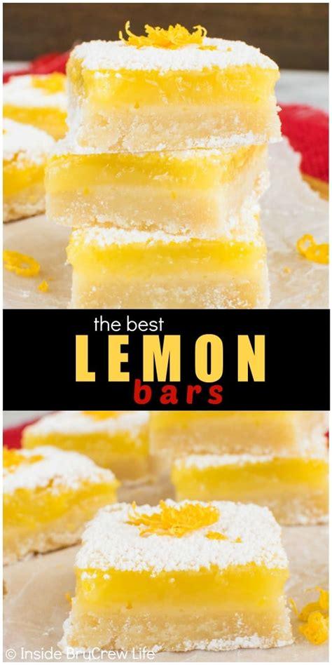 Best Lemon Bars - Inside BruCrew Life Lemon Dessert Bars