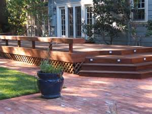 Wood Patios And Decks by Exterior Epic Home Exterior Design Ideas Using Patio