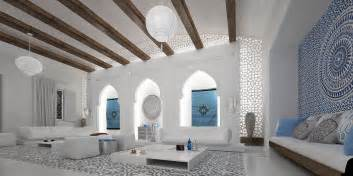 Spanish Inspired Home Decor Spacious Moroccan Living Room Interior Design Ideas