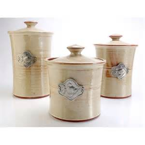 Pottery Kitchen Canister Sets by Fish 3 Piece Stoneware Canister Set In 4 Colors Beach