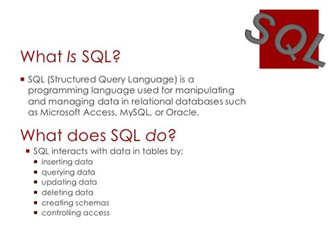 sql query language tutorial pdf tutorial for using sql in microsoft access