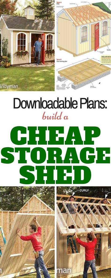 build  cheap storage shed  family handyman