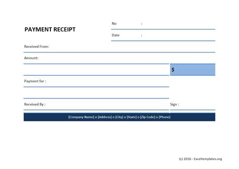 Receipt Of Payment Template by Payment Receipt Template Excel 28 Images Payment