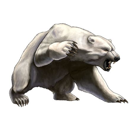 angry cartoon polar bear
