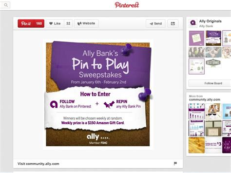 How To Play Sweepstakes - ally bank s pin to play sweepstakes