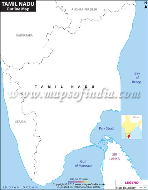 Tamilnadu Outline Map India by Tamil Nadu Outline Map Blank Map Of Tamil Nadu