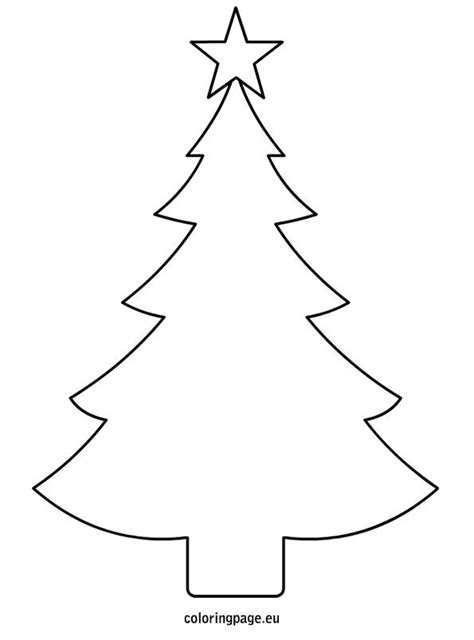 christmas tree tracing pattern christmas tree template printable pinteres