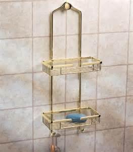 gatco 1476 premier shower caddy polished brass