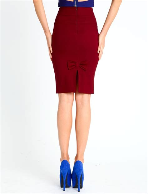 pretty pencil skirt winter wardrobe
