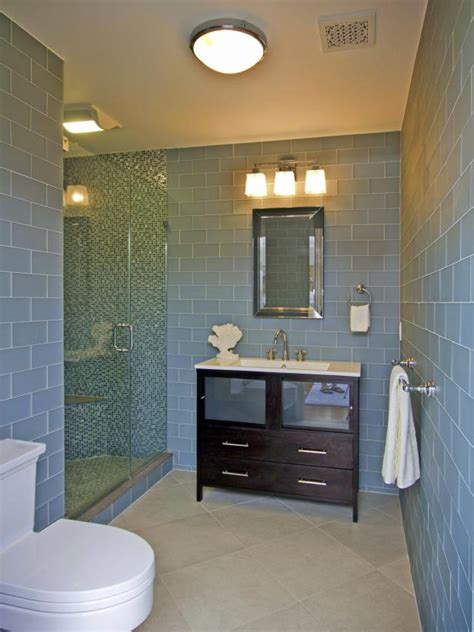 photos hgtv blue bathroom with mosaic glass tile photo page hgtv