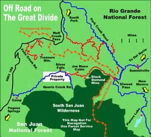map of pagosa springs colorado pagosa springs road map pagosa springs colorado