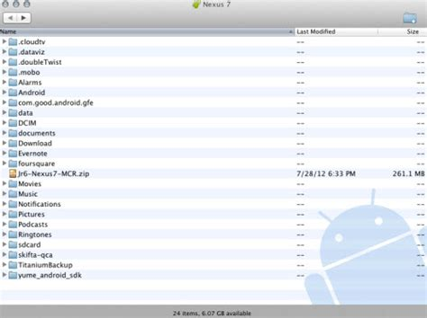 android file transfer no android device found how to transfer sync media files photos to nexus 4 from mac os x