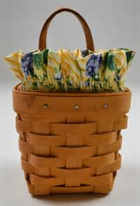 longaberger basket values longaberger 1997 chive basket combo with liner amp protector collectible decor ebay