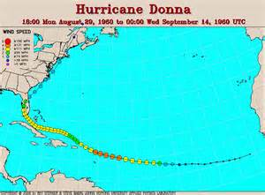 donna map other hurricane track maps