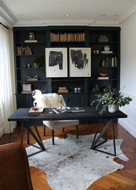 black office desk for home 1000 ideas about black office on drafting