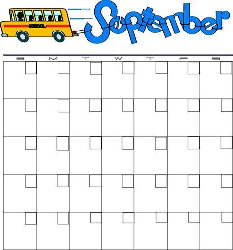 September Preschool Calendar Templates calendars september blank
