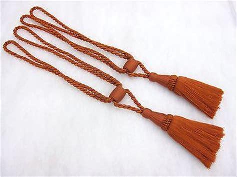 red rope curtain tie backs 2 dual tone terracotta red curtain tassel tie backs