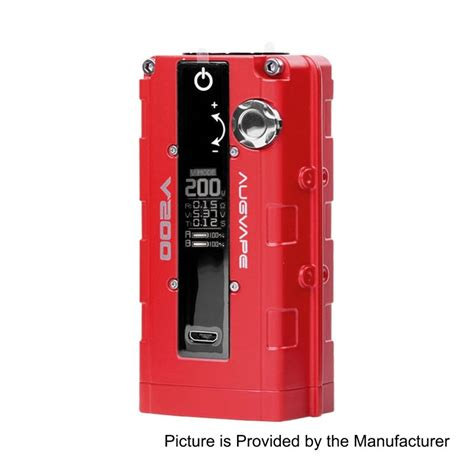 V200 Box Mod Authentic By Augvape authentic augvape v200w 18650 tc vw variable wattage