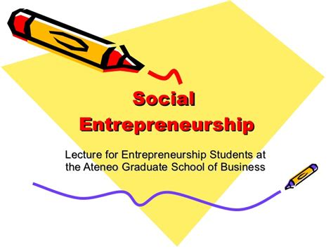 Social Enterprise Mba by Social Entrepreneurship