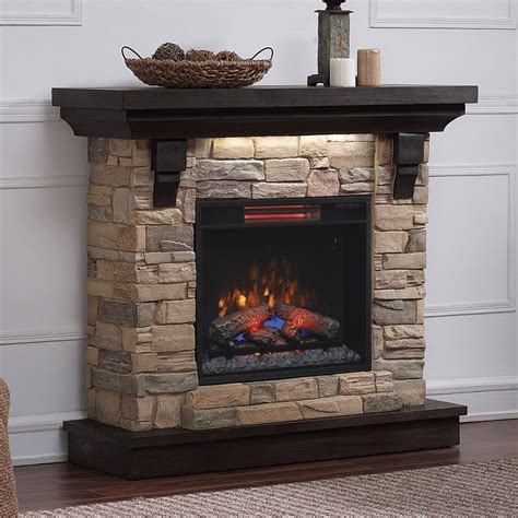 45 quot eugene aged coffee wall infrared electric fireplace mantel