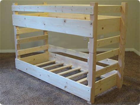 toddler bunk bed plans bed plans diy blueprints