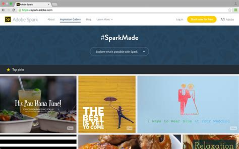 Adobe Sparks Visual Storytelling Apps On Creative Cloud Adobe Spark Templates