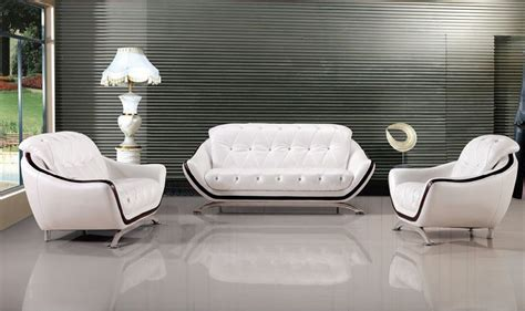 white genuine leather sofa lizz comfortable couch button tufted sofa contemporary