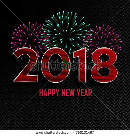 new year national happy new year merry 2018 stock vector 750134062