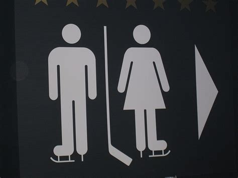 bathroom signs canada restroom sign in canada where else hockey obsession