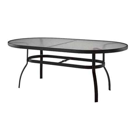 Woodard Deluxe Oval Glass Dining Table | woodard deluxe 42 quot x 74 quot oval glass top dining table 826174w