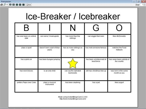 view document ice breaker icebreaker bingo cards