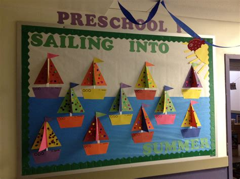 themes in art education preschool sailboats ocean summer theme bulletin board