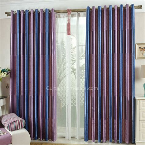 purple and blue curtains simple modern style royal blue and purple striped curtains