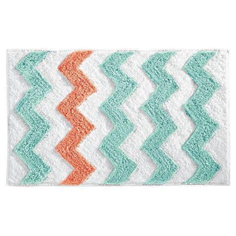 chevron bathroom rugs interdesign chevron rug orange teal bath rug