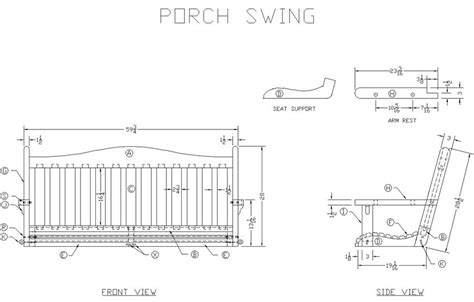 Learn How To Build A Wooden Porch Swing Free Woodworking