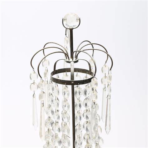 candelieri in cristallo candelieri antichi con prismi in cristallo svezia set di