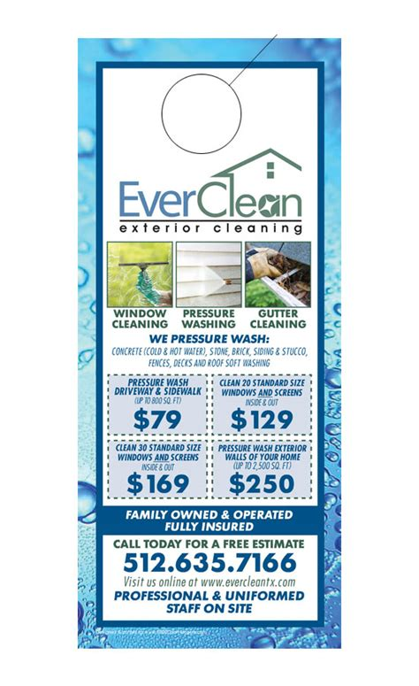 Window Cleaning Door Hangers Template Window Cleaning Door Hanger Sles