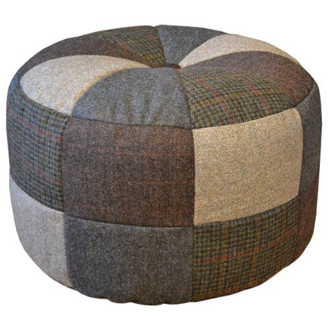 Small Patchwork Sofa - harris tweed pumpkin stool small patchwork