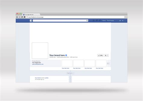 Free psd facebook cover amp brand page mockup design template