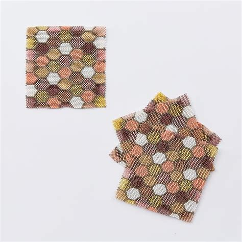 beaded coasters honeycomb beaded coasters set of 4 west elm