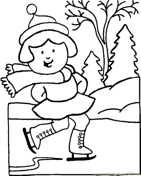 coloring pages skater90 sports gt winter sports free