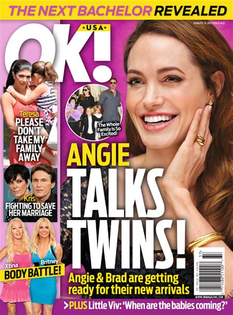 Brad And Tell Ok That They Are Ready For A New Baby by New Ok Cover Brad Pitt Getting Ready