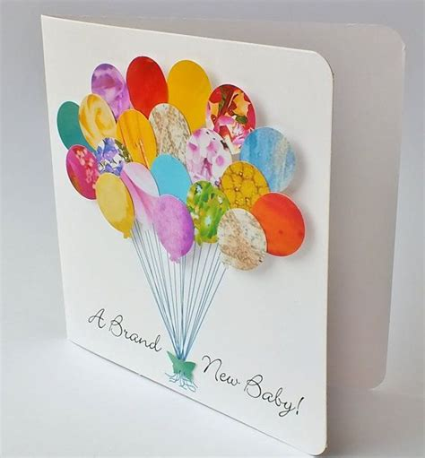 Handmade Balloons - 25 best ideas about new baby cards on baby
