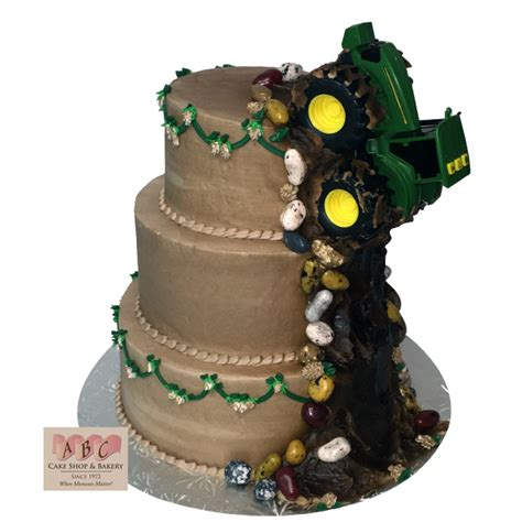 (1601) 3 Tier John Deere Tractor Wedding Cake   ABC Cake