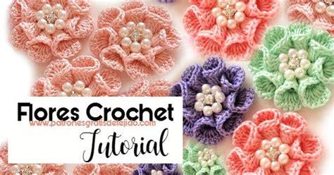 como tejer flores de 5 petalos a crochet muy facil how c 243 mo tejer flores con p 233 talos en 3d tutoriales crochet