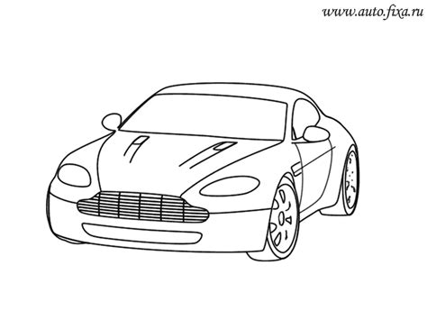 aston martin free colouring pages
