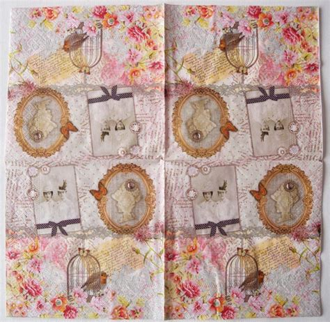 Decoupage With Scrapbook Paper - decoupage paper of vintage scrapbook with photo napkin