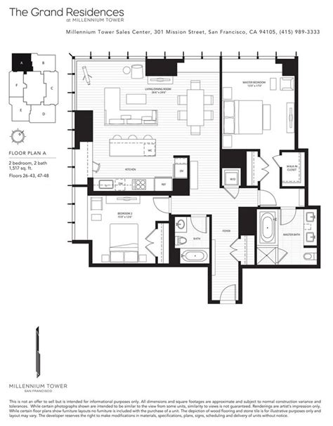 Tower Floors by 13 Best Millennium Tower Sf Floor Plans Images On